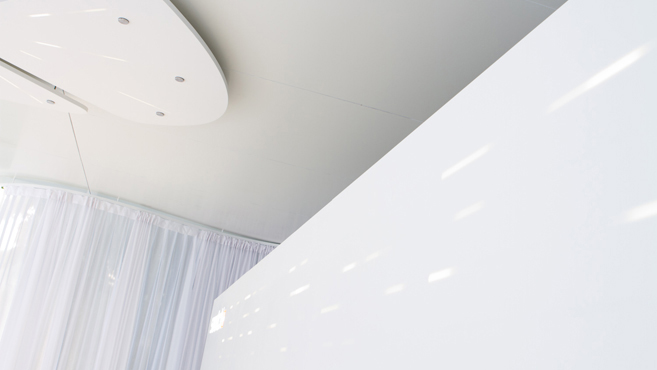 Innenansicht: Lichtinstallation