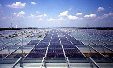 Solaranlage auf dem Dach