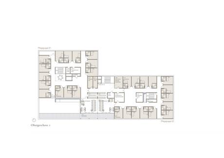 Obergeschoss Pflegeheim