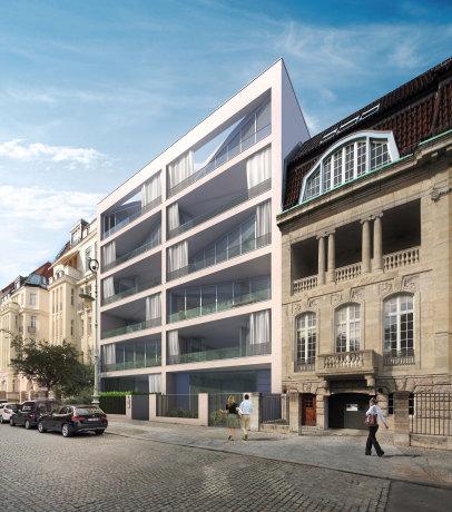 Wohnungsbau Berlin Charlottenburg Straßenfassade