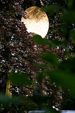 Tageslicht - Blattvergoldete Reflektorscheibe - Durchmesser 1400mm.