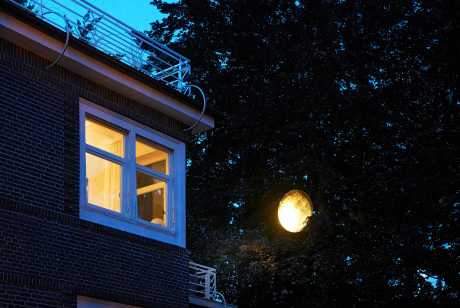 """""""Mondlicht"""" - Ansicht vom Garten."""