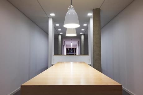 """""""Meeting-Point"""" in den Bürofluren."""