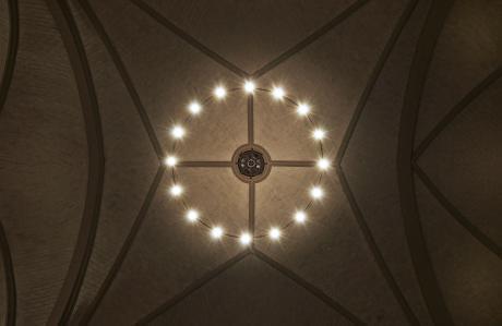 Untersicht zentraler Lichtring.