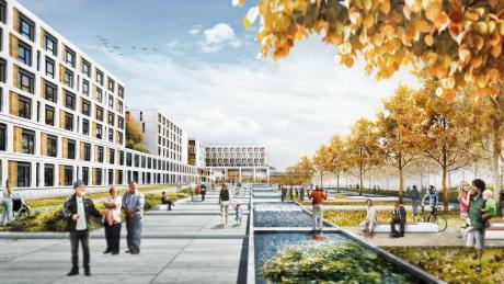 Blick über neuen Vincentius-Platz