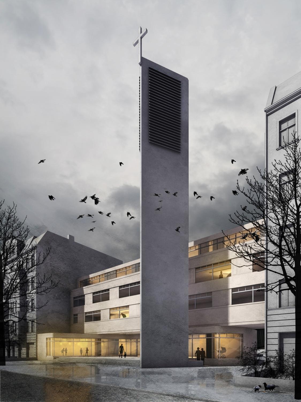 H7 Sanierung und Erweiterung der Christus-Kirche in Berlin | Visualisierung: Stephan Bosse