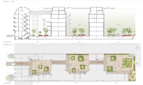 Lageplan/Schnitt: Lageplan: Levin Monsigny Landschaftsarchitekten