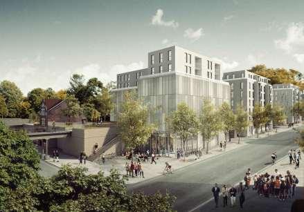 Blick von der Yorckstraße; @Architekturvisualisierung Nadine Kuhn
