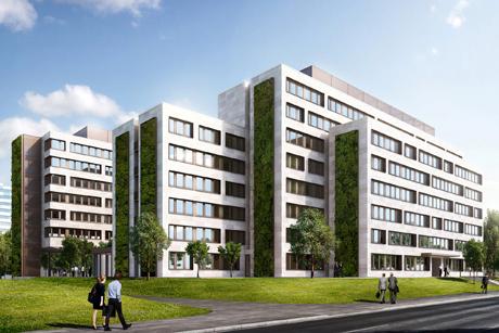Das Ministerium von der Mainzer Straße aus gesehen. Visualisierung: © NOOKTA Architekturvisualisierungen