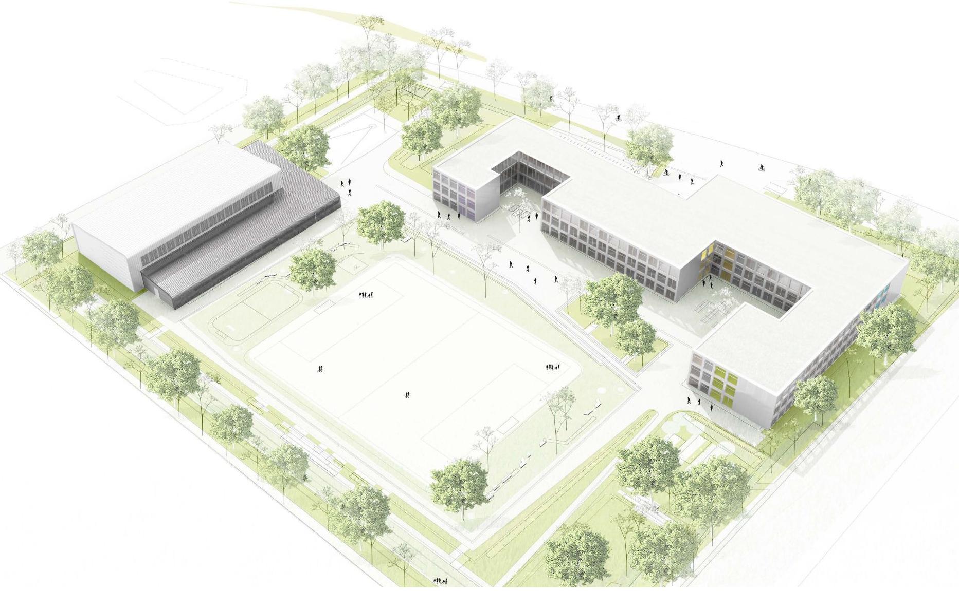 Gebäudepositionierung und Freiraumgestaltung
