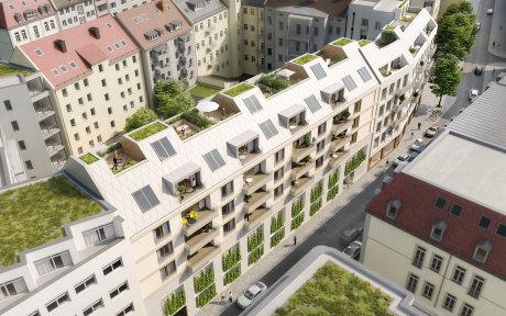 Visualisierung Oliv Architekten