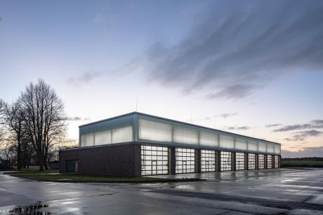 Werkhalle Westfalen-Kaserne Ahlen (Fotos ©: Roland Borgmann)